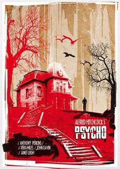 Psycho Alternative Poster Film. #psycho #horrorfilm #classicmovie #posterdesign…