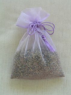 Diy Lavender Sachets With Organza Bags