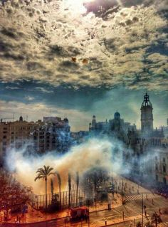 Fallas of Valencia. A Moment In Time, Maybe One Day, Niagara Falls, Fireworks, City, World, Awesome, Places, Photography