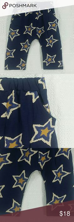 Navy blue Stars jogger pants. Kids Adorable navy blue jogger pants with cute stars design.  Have pockets Pull up style.  This item is brand new and never used. No tags. Bottoms Sweatpants & Joggers