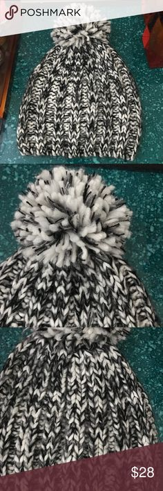 Rebecca Minkoff Chunky Melange Slouchy Beanie Only worn a few times but in great condition! Knit beanie with attached Pom Pom. Rebecca Minkoff Accessories Hats