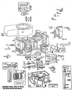 Briggs and Stratton 60100 Series Parts List and Diagram