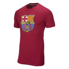 Nike FC Barcelona Soccer Crest Tee - Storm Red