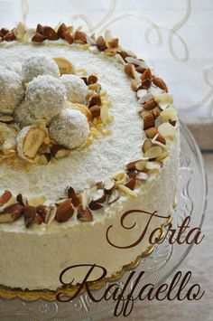 Almond Coconut Cake – Torta Raffaello – Cook and Love – blackdesserts Rafaelo Cake, Bakery Recipes, Dessert Recipes, Coconut Cake Decoration, Almond Coconut Cake, Torte Cake, Birthday Cake Decorating, Chiffon Cake, Italian Desserts