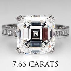 GIA 7 Carat Asscher Cut Diamond