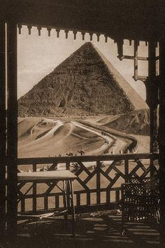 Mena House Hotel Giza Egypt - room with a view. Originally a royal lodge for the Khedive Ismail, in 1883 it was sold to an English family for a private residence. In 1885 it was sold to the Locke-Kings family who opened it as a hotel.