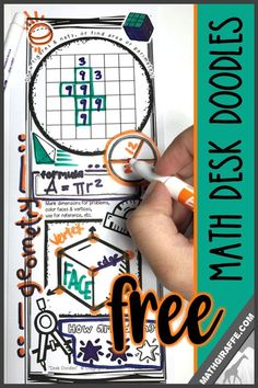 free download: doodle-friendly desk cards for math class that activate brain pathways to boost focus and memory #DoodleNotes #Geometry