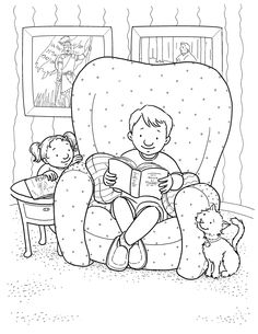 Coloring page for Primary kids from lds.org. Child reading the scriptures. More LDS line art for kids--> http://www.lds.org/media-library/images/primary/line-art