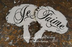 Je Taime Wedding Paddles, Hand Held Photo Props, Wedding Decor, Fan, Wedding Sign