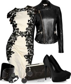 """""""Leather and Lace"""" by christa72 on Polyvore"""