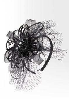 bebe | Fishnet Fascinator Headband #bebewishlist
