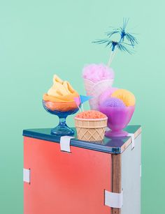 ice cream is a MUST. #teesnpoms, pastel sorbet, mint peach lavender, frozen yogurt