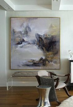 Large abstract painting Contemporary Art Hand-painted Large
