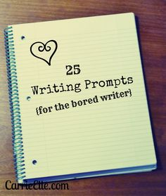 I'm not a bored writer. don't think I could ever be with the amount of (or lack of, rather) writing that I do. But I'm pinning because a person can never have enough prompts. just in case. Writing Resources, Teaching Writing, Writing Help, Writing A Book, Writing Tips, Essay Writing, English Writing, Teaching English, Writing Services