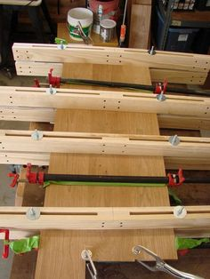 Wood braces to keep your project flat during clamping
