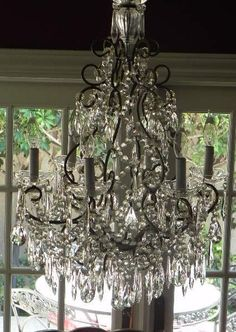 French Chandelier by FoundinFrance on Etsy. The Incensewoman Chandelier Bougie, French Chandelier, Chandelier Lighting, Chandelier Bedroom, Crystal Chandeliers, Antique Chandelier, French Decor, French Country Decorating, Beautiful Lights