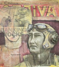 Titolo : Avietor Tecnica : collage ,olio , matite, Anno : 2009 Autore : Lino Lanaro
