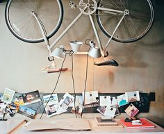 One of the bedrooms became Norelius's studio, which includes lighting from Artemide above acustom desk.