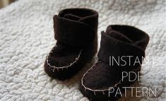 Baby boots| Free patterns / Tutorial