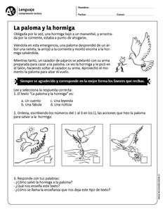 "La paloma y la hormiga"" data-recalc-dims= Spanish Classroom, Teaching Spanish, Learn Spanish, Achieve 3000, Classroom Humor, Learning Sight Words, Spanish Immersion, Spanish Language, Makeup Primer"