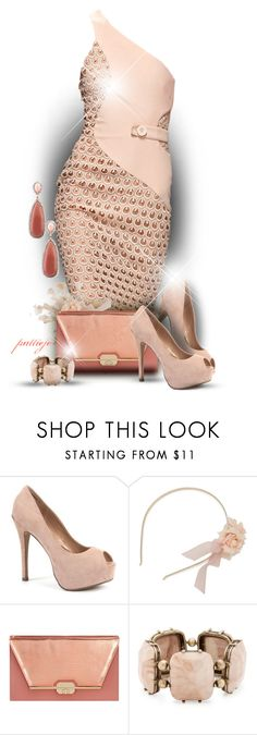 """""""Blushing Beauty"""" by rockreborn ❤ liked on Polyvore featuring Versace, Dorothy Perkins, Matthew Williamson and Irene Neuwirth"""
