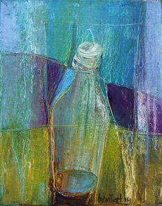 Bea van Twillert - Flesje 3, olieverf, more art: www.kirstenlovesart.com