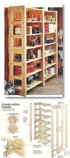 Modular Storage Shelving Plans - Workshop Solutions Projects, Tips and Tricks | WoodArchivist.com