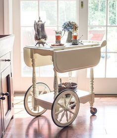 tea cart makeover, chalk paint, how to, painted furniture, painting                                                                                                                                                                                 More