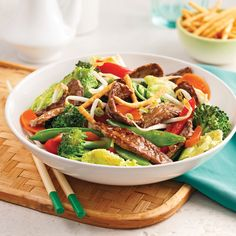 Chop suey express with beef - 5 ingredients 15 minutes - Food (main dishes, lunch, sideplates, others) Asian Recipes, Beef Recipes, Healthy Recipes, Ethnic Recipes, Yummy Recipes, Healthy Food, Chop Suey, Mets, Tasty Dishes