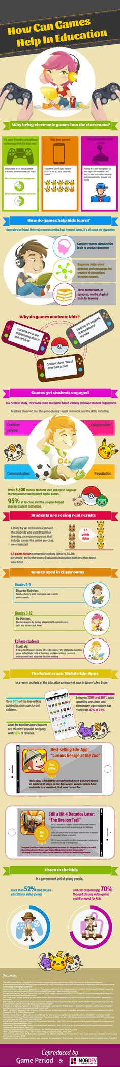 How Can Games Help in Education Infographic - http://elearninginfographics.com/games-help-in-education-infographic/