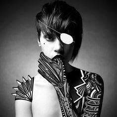 Bionic girls by Olga Angelaki, via Behance