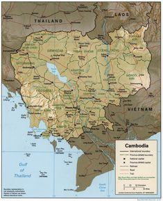 Situation en Asie du Sud-Est. // Cambodia 1997 CIA map ◆Cambodge — Wikipédia http://fr.wikipedia.org/wiki/Cambodge #Cambodia