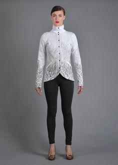 "Sako bílé ""Větvoň"" – MOLO7 Blazers, Blouse, Long Sleeve, Sleeves, Tops, Women, Fashion, Moda, Long Dress Patterns"