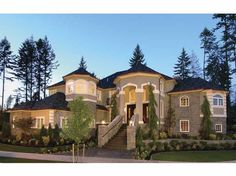 French Country House Plan with 4684 Square Feet and 4 Bedrooms from Dream Home Source | House Plan Code DHSW63961