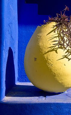 this blue with yellow