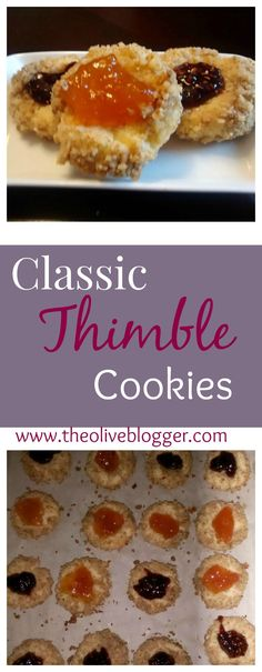 Classic Thimble Cookie Recipe- Add any flavor jam you like for a real treat…