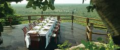 Ulusaba Game Reserve-gorgeous dining space