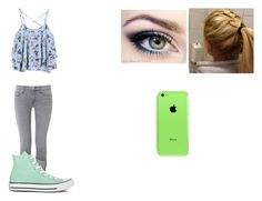"""""""#2"""" by kat0316 ❤ liked on Polyvore featuring Hudson and Converse"""