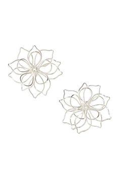 Flower-shaped Earrings - Silver-colored - Ladies | H&M CA 1