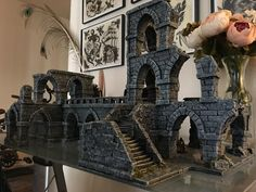 Warhammer Terrain, 40k Terrain, Game Terrain, Wargaming Terrain, Fantasy Rpg Games, Fantasy City, Bsg Game, Dnd Mini, Halloween Village Display