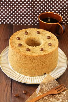 しっとりコーヒー豆乳シフォンケーキ☆ ぱおのおうちで世界ごはん☆
