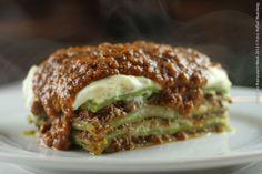 O Gato que Ri (almoço)    Lasanha verde tradicional ao molho sugo ou bolonhesa