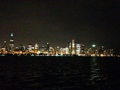 Chicago at night from the Museum Campus in the South Loop!