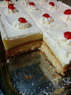Απίθανο γλυκάκι με Σιροπιαστό παντεσπάνι ινδικής καρύδας & κρέμας !! ~ ΜΑΓΕΙΡΙΚΗ ΚΑΙ ΣΥΝΤΑΓΕΣ Greek Sweets, Greek Desserts, Party Desserts, Greek Recipes, No Bake Desserts, Sweets Recipes, Cake Recipes, Sweet Corner, Pastry Cake