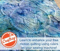Make your free motion really pop by adding ruler work. This class shows you how you can do it on a sewing machine or sit-down long arm. Quilting Rulers, Quilting Tips, Quilting Tutorials, Machine Quilting, Quilting Designs, Handi Quilter, Motion Backgrounds, Free Motion Quilting, Design Elements