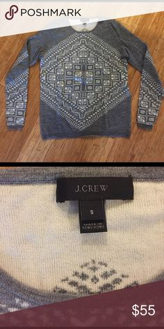 J Crew sweater Gorgeous J Crew sweater made of super soft sweater knit material. Only worn a few times and in perfect condition! Amazing piece! J. Crew Sweaters
