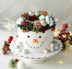 Christmas Themed Cake, Best Christmas Desserts, Christmas Cake Designs, Christmas Cake Decorations, Holiday Cakes, Christmas Baking, Christmas Cakes, Beautiful Birthday Cakes, Beautiful Cakes