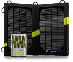 Who needs fresh batteries? Keep your campsite powered up with portable sun energy.