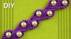 How to Make a SNAKE or a WAVE Macrame Bracelet with Beads by Macrame School…