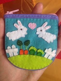 Garden Bunnies Hand Sewn & Embroidered Wool Felt by BestlaChan